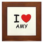 I love Amy Framed Tile