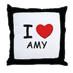 I love Amy Throw Pillow