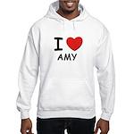 I love Amy Hooded Sweatshirt