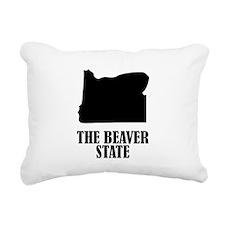 Oregon The Beaver State Rectangular Canvas Pillow