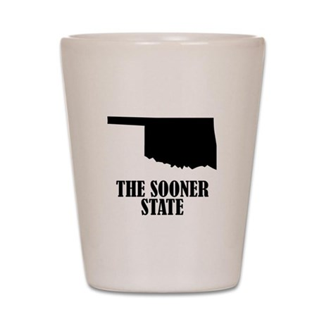 Oklahoma The Sooner State Shot Glass