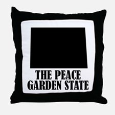 North Dakota The Peace Garden State Throw Pillow