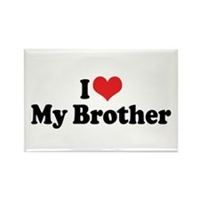 I Love My Brother Rectangle Magnet (10 pack)
