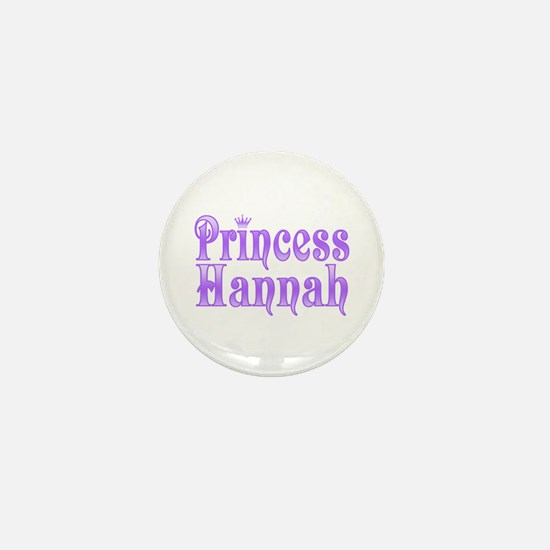 """Princess Hannah"" Mini Button"