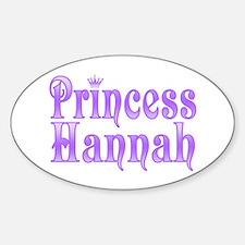 """""""Princess Hannah"""" Oval Decal"""