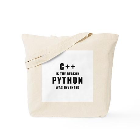C++ Vs Python Tote Bag
