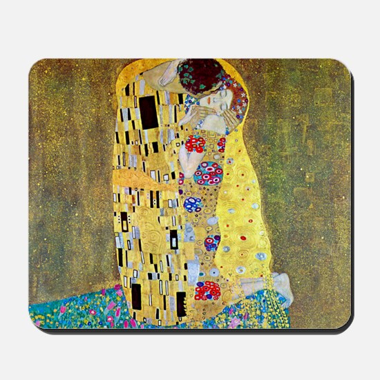 The Kiss by Gustav Klimt, Vintage Art Nouveau Mous