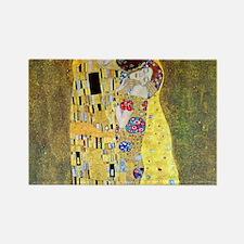 The Kiss by Gustav Klimt, Vintage Art Nouveau Rect