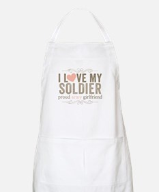 I Love my Soldier Apron