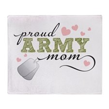 Proud Army Mom Throw Blanket