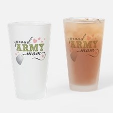 Proud Army Mom Drinking Glass