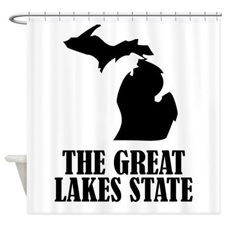 Michigan The Great Lakes State Shower Curtain