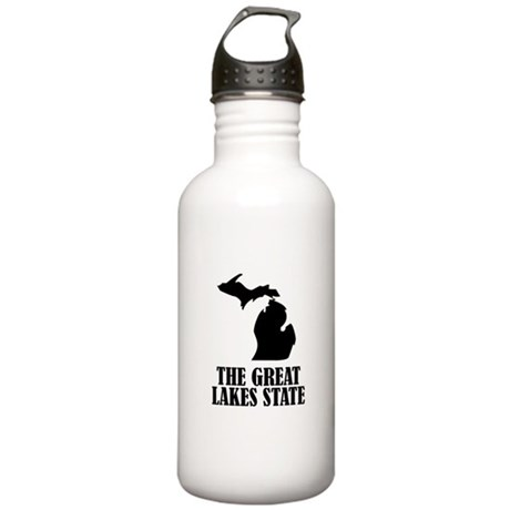Michigan The Great Lakes State Water Bottle