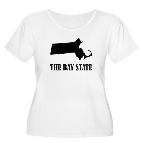 Massachusetts The Bay State Plus Size T-Shirt