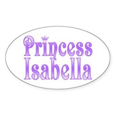 """Princess Isabella"" Oval Decal"