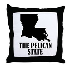 Louisiana The Pelican State Throw Pillow