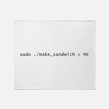 Sudo Make_Sandwich Throw Blanket