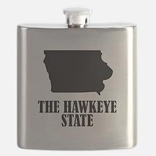 Iowa The Hawkeye State Flask