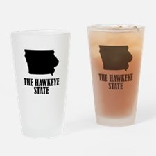 Iowa The Hawkeye State Drinking Glass