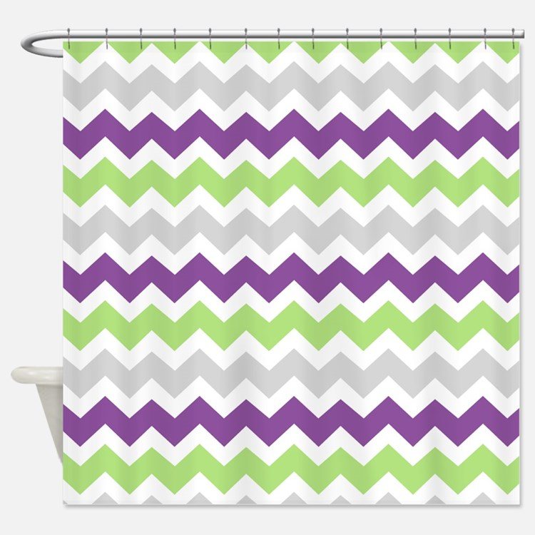 Gray Green Shower Curtains