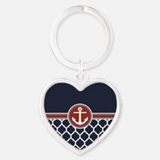 Anchor and Moroccan Lattice Pattern Keychains
