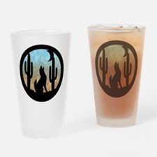 Coyote Moon Drinking Glass