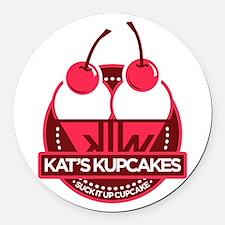 Kat's Kupcakes Round Car Magnet