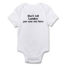 Don't tell Landen Infant Bodysuit