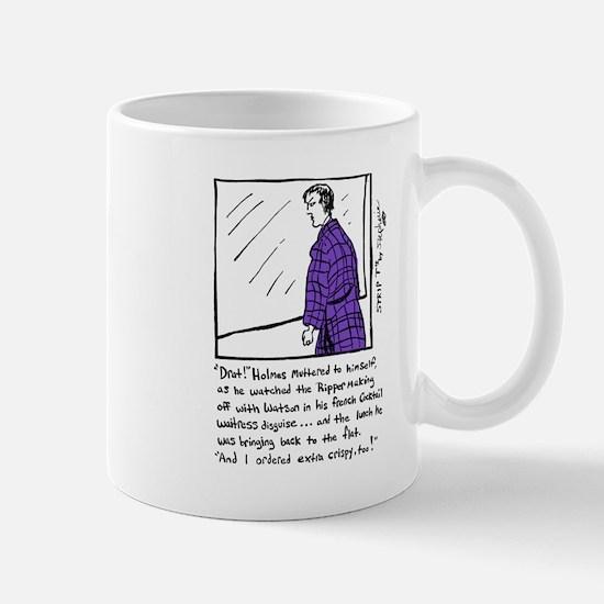 Sherlock Holmes Ponders Lunch Mug