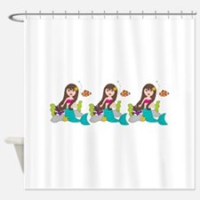 Beach Mermaid Shower Curtain