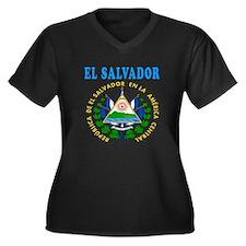 El Salvador Coat Of Arms Designs Women's Plus Size