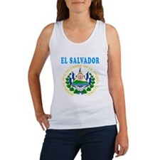 El Salvador Coat Of Arms Designs Women's Tank Top