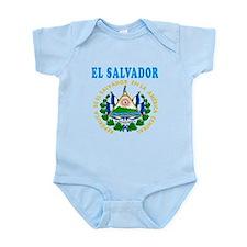 El Salvador Coat Of Arms Designs Infant Bodysuit