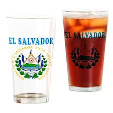 El Salvador Coat Of Arms Designs Drinking Glass