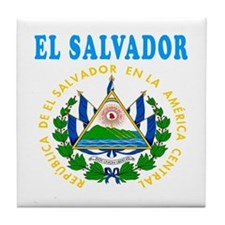 El Salvador Coat Of Arms Designs Tile Coaster