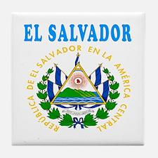 El Salvador Coat Of Arms Designs Tile Coaster