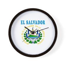 El Salvador Coat Of Arms Designs Wall Clock