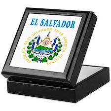 El Salvador Coat Of Arms Designs Keepsake Box