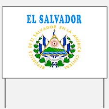 El Salvador Coat Of Arms Designs Yard Sign