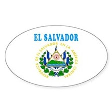 El Salvador Coat Of Arms Designs Decal