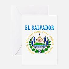 El Salvador Coat Of Arms Designs Greeting Card