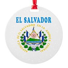 El Salvador Coat Of Arms Designs Ornament
