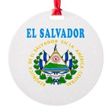 El Salvador Coat Of Arms Designs Round Ornament
