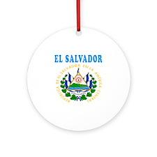 El Salvador Coat Of Arms Designs Ornament (Round)