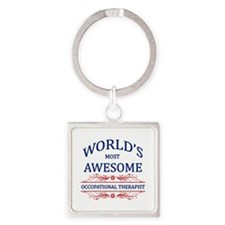 World's Most Awesome ICU Nurse Square Keychain