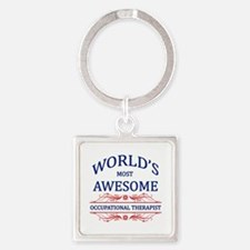 World's Most Awesome ICU Nurse Square Keychain