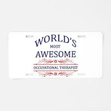 World's Most Awesome ICU Nurse Aluminum License Pl
