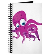 Purple Cartoon Octopus Journal