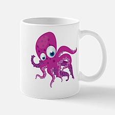 Purple Cartoon Octopus Mug