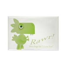Rawr Dino Love Rectangle Magnet (10 pack)